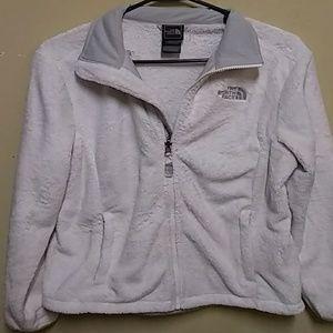Women's White/Light Gray North Face Jacket